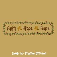 Faith, Hope, Peace Border-5x7