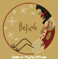 Believe Snowman Candle Mat-4 inch and larger