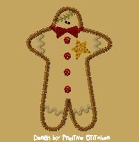 Gingerbread Man-4x4-Colorwork
