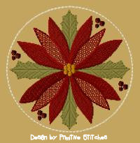 Poinsettia Candle Mat-4-Inch & Larger-FILL