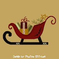 #PS-465 Sleigh With Gifts-5x7-FILL
