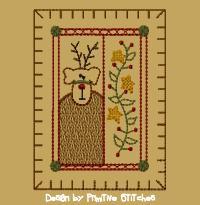 Reindeer Hand Towel-5x7-MOTIF