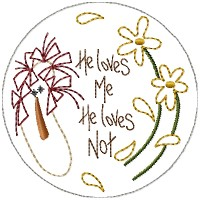 He Loves Me Annie Candle Mat- 4 inch & Larger