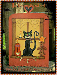 PAINTING-Halloween Window 1