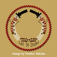 Let It Snow Candle Mat