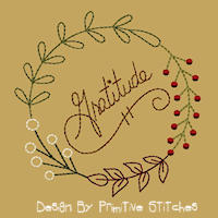 Gratitude Wreath Sizes 4 to 8 Inch-Colorworks