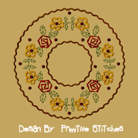 #PS-059 Daisy-Rose Candle Mat-4-Inch & Larger