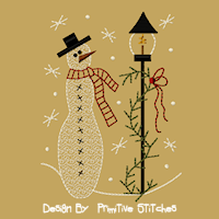 #PS-142 Snowman Lamp Post-5x7
