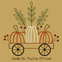 #PS-177 Little Red Pumpkin Cart-5x7-CW