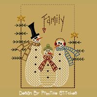 Snowman Family-5x7