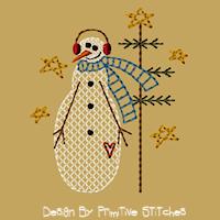 Snowman Family-Mama-4x4