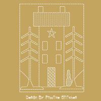 Winter Saltbox House-MOTIF-2-Piece SET-5X7