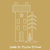 Winter Saltbox House-MOTIF-3-Piece SET-4x4