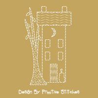 Fall Saltbox House-MOTIF-3-Piece SET-4x4
