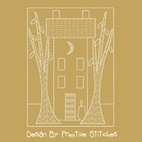 Fall Saltbox House-MOTIF-2 Piece Set-5X7