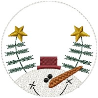 Frosty Freddie Candle Mat 4 inch & Larger