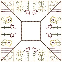 Flower Patch Candle Mat 5 inch & Larger