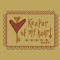 Keeper Of My Heart-4x4-Colorwork