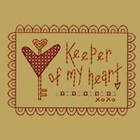 Keeper Of My Heart-4x4-Colorwork