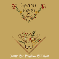 Gingerbread Blessing Bread Cloth-4X4