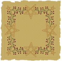 Berry Star Garland Candle Mat-Colorworks