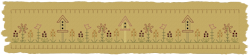 Birdhouse Flower Patch Towel Band
