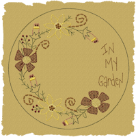 In My Garden Candle Mat-Colorwork/Motif
